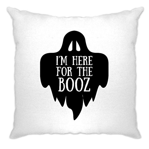 I'm Here For The Booz Halloween Slogan Funny Alcohol Cushion (Mens Halloween Costume Ideas Last Minutes)