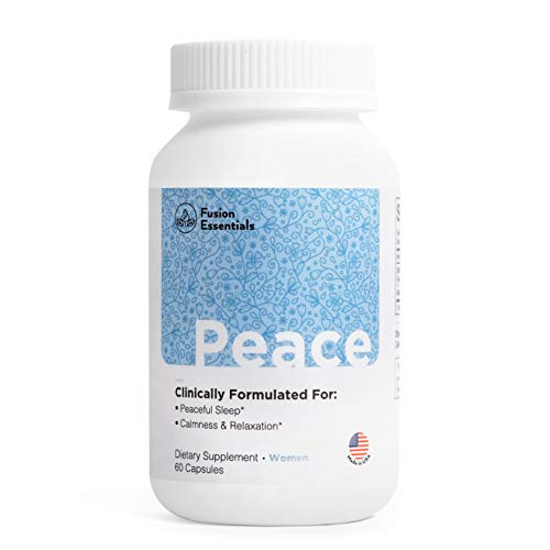 Fusion Essentials Women's Peace Melatonin-Free Sleep Aid Made with Patent Formula, Fall Asleep Easily, Calmness and Relaxation,Non-GMO, Gluten Free, Natural Ingredient -60 capsules