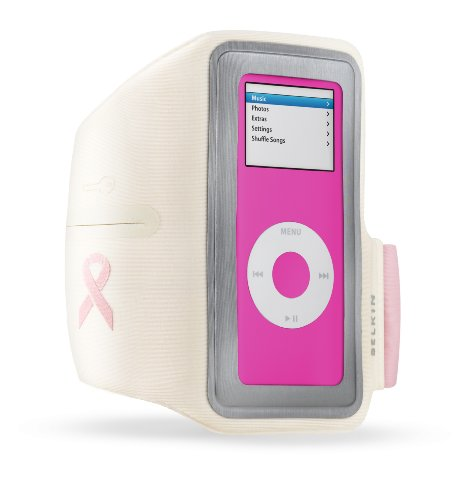 Ipod Nano Armband Reviews (Belkin F8Z153BCA Breast Cancer Awareness Sport Armband for iPod nano 1G, 2G (1GB/2GB/4GB/8GB) White/Pink)