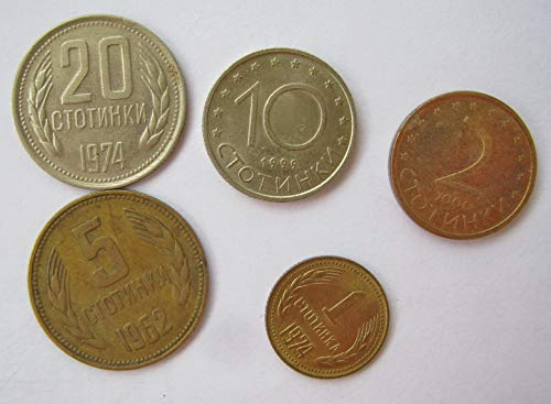 Bulgaria BG 1962 Lot of Bulgarian Coins Stotinki Lev European Coins Very Fine