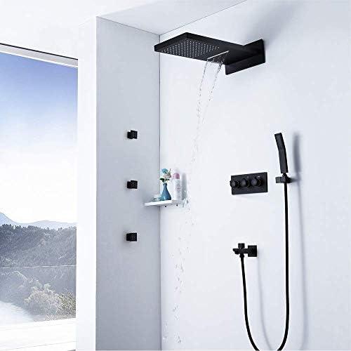 BZM-ZM バスルームレインミキサーシャワーコンボセットの壁には、レインフォールシャワーヘッドシステムシャワーの蛇口をマウント