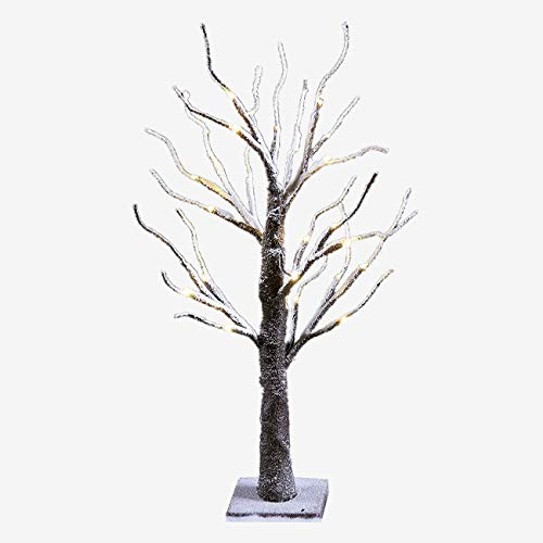 Lightshare Lighted Snow Dusted Bonsai Tree with 24 LED Lights