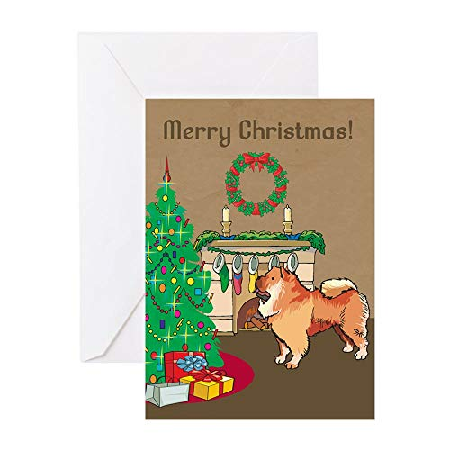CafePress Chow Chow Merry Christmas Greeting Card, Note Card, Birthday Card, Blank Inside Matte