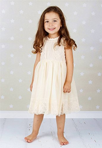 Bow Dream Lace Vintage Flower Girl's Dress Ivory 12 by Bow Dream (Image #5)