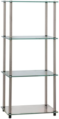(Convenience Concepts Designs2Go Go-Accsense 4-Tier Glass Tower, Clear)