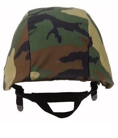 Camouflage Helmet Cover (Woodland Camo) ()