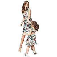 Mami y Yo Vestido a Juego Familiar Mujer Niña Madre Hija Floral Vestido de Verano