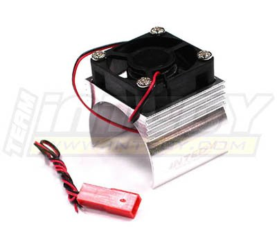 Integy RC Model Hop-ups C23140SILVER Super Brushless Motor Heatsink+Cooling Fan 540 Size (Fan Cool Motor Heatsink)
