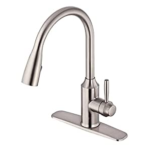 Glacier Bay FP4A4080SS Invee 8 In. Pulldown Kitchen Faucet Stainless Steel