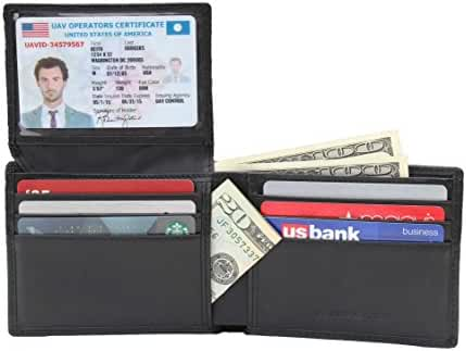 RFID Blocking Genuine Leather Wallet for Men - Excellent Travel Bifold - Credit Card Protector - RFID Blocking Wallet
