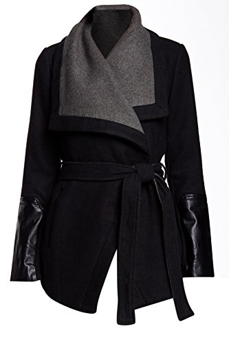 Leather Belted Coat - 4