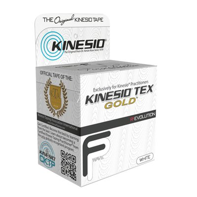 Kinesio Tape, Tex Gold FP, 2'' x 55 yds, White, 6 Rolls by Kinesio