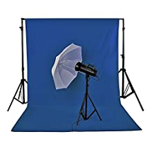 Neewer 3 x 3.6M/ 10 x12ft Photo Studio 100% Pure Muslin Collapsible Backdrop Background Blue