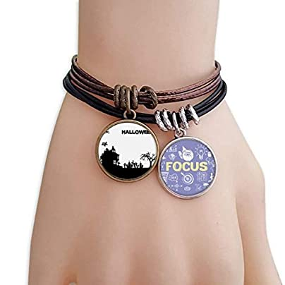 master DIY Trees Happy Ghost Fear Halloween Bracelet Rope Wristband Force Handcrafted Jewelry Estimated Price -
