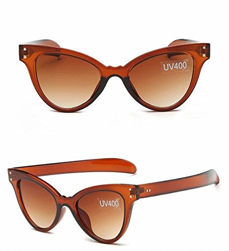 mode nagel katze auge sonnenbrille damen high-end-sonnenbrille sonnenbrille transparentes Pulver OwhTieQ