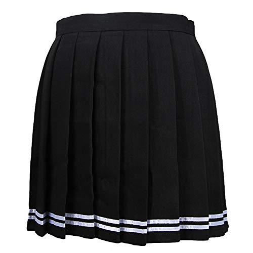 Pliss Jupe Femme Singhi Noir Ecossais Court rayure Patineuse Mini Jupe vas qnYxxwaR8d