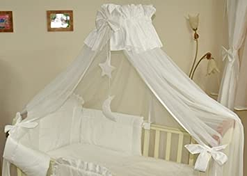 Luxury Baby Cot Bed Crown Canopy Mosquito Net 480 Cm Clamp Holder Rod