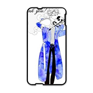 Blue guitar gentleman Cell Phone Case for HTC One M7