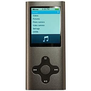 Eclipse MTE180G2G 4GB MP3 Music and Video Player (Silver) (Discontinued by Manufacturer)