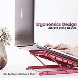 "Laptop Stand, Adjustable Portable Laptop Holder For Desk, 6 Adjustable Height & Angle Laptop Stand Holder For 10-15.6"" Pc"