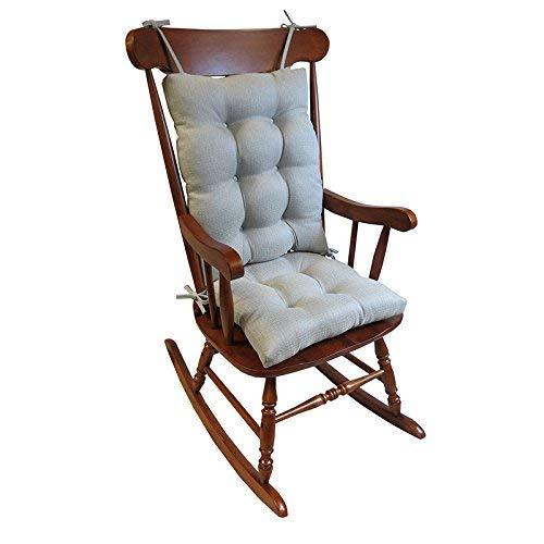 Klear Vu Omega Rocking Chair Pad Set, Seat: 17 x 17 x 3 inch Seat Back: 17 x 21 x 3 inch, Gray by Klear Vu