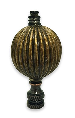Royal Designs Balloon Shaped Lamp Finial for Lamp Shade- Antique - Finial Brass Lamp Shaped Antique