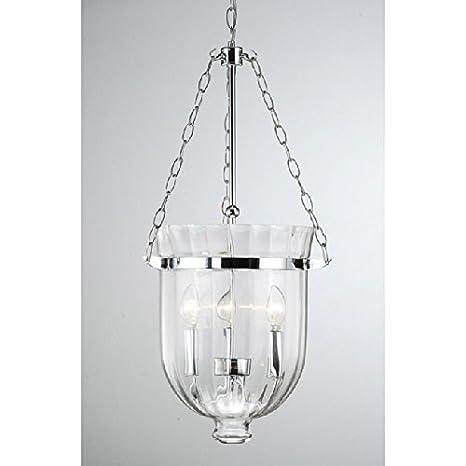 Chrome finish ribbed glass lantern chandelier amazon chrome finish ribbed glass lantern chandelier aloadofball Choice Image