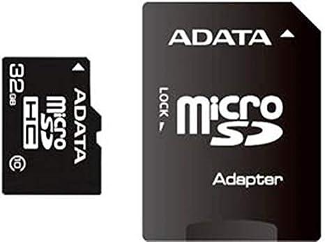 ADATA 32 GB Micro SDHC Card Class 10 with SD Adaptor AUSDH32GCL10-RA1