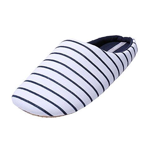 WILLIAM verano zapatilla zapatillas japonés mujeres piso amp;KATE interior para antideslizante las blanco en Casual de Estilo Streak pr4pZw8q