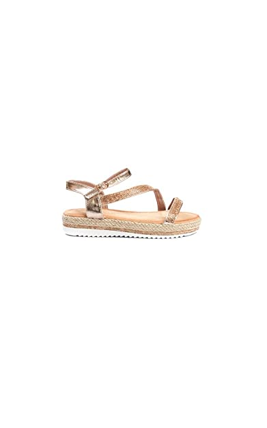 2ef03d83cce Ikrush Womens Matilda Diamante Flatform Sandals Rose Gold  Amazon.co ...