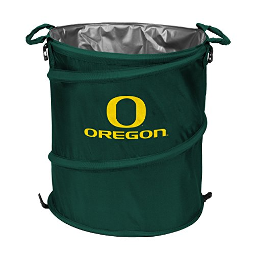 NCAA Oregon Ducks Collapsible 3-in-1 Trash Can, Adult, Green (Oregon Ducks Tailgate Cooler)