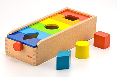 - HABA Fit & Play Rainbow Shape Sorting Box with 6 Wooden Groove & Lock Tiles to Rearrange The Shapes