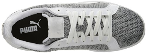 Sneaker da uomo Smash Knit Fashion, Puma White / Puma White, 6 M US
