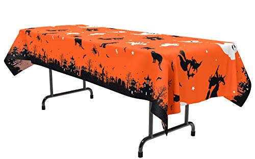 2PCS Halloween Table Cover/Cloth Decorations - Party Tablecloth Yard Haunted House Decor