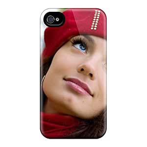 New Premium Flip Case Cover Sensual Make Up For Skin Case For Iphone 4/4s