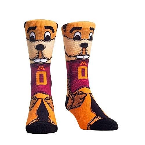 NCAA Super Premium College Fan Socks (L/XL, Minnesota Gophers - Mascot Goldy)