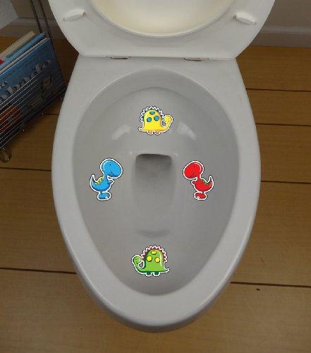 Target Decals - Dinosaur Toilet Targets - Style 2