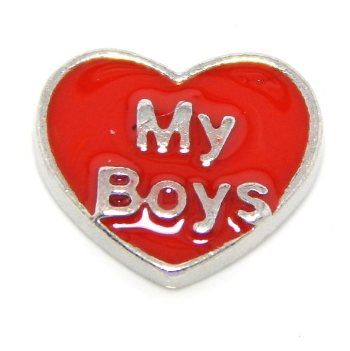 Locket Charm Jewelry Princess Heart (Pro Jewelry Floating Mini Charms for Floating Locket (My Boys Heart))