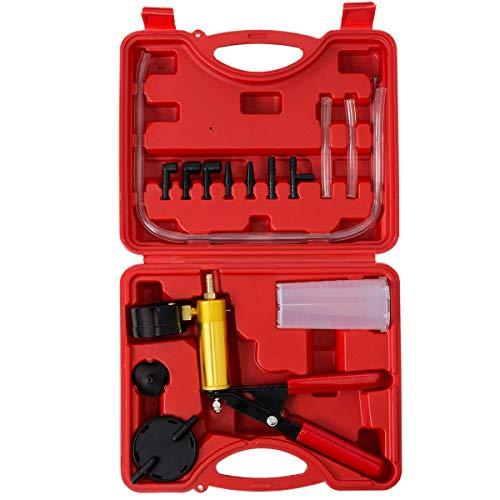XtremepowerUS Brake Fluid Bleeder Hand Held Vacuum Pistol Pump Tester Kit + Adapters w/Case