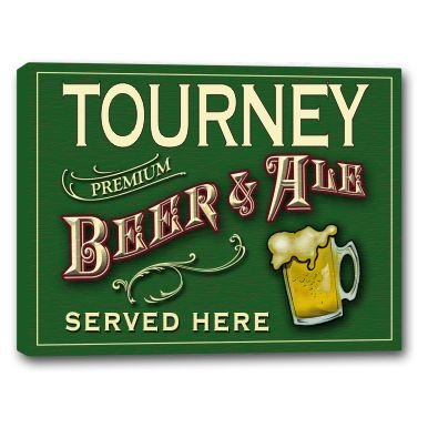 TOURNEY Beer & Ale Stretched Canvas Sign 16