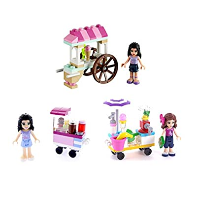 LEGO Friends Outdoor Food Market Cupcake Stall (30396) Smoothie Stand (30202) and Ice Cream Stand (30106) 3-Set: Toys & Games