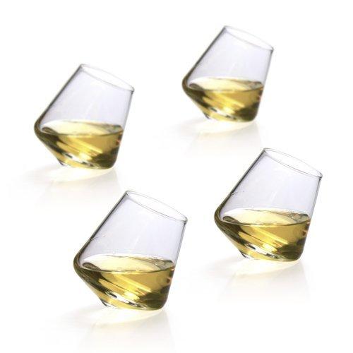 Set of 4 Hand-made SEMPLI Cupa Shot Liqueur Glasses