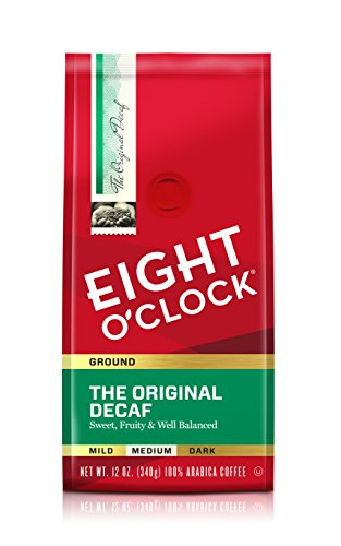 Eight O'Clock Ground Coffee, The Original Decaf, 12 Ounce (Pack of 6)