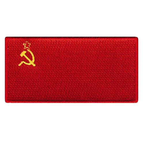 Soviet Union Flag Embroidered Patch Communist USSR CCCP Iron-On Russian National