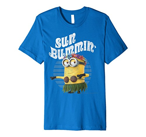 Despicable Me Minions Bob Sun Bummin Hula Premium T-Shirt]()