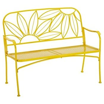This Item Hello Sunny Outdoor Patio Bench, With Armrests,rounded Corners  And A Sturdy Frame, Enhances The Backrest That Greets You,your Family And  Guest, ...