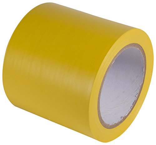INCOM Manufacturing: Vinyl Aisle Marking Tape - Abrasion Resistant, 4 x 108, Safety Yellow - Ideal for Walls, Floors, Equipment
