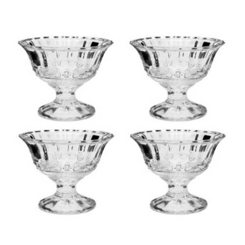 Crystal Ice Cream - Studio Silversmiths Set of 8 Ren Ice Cream Cups