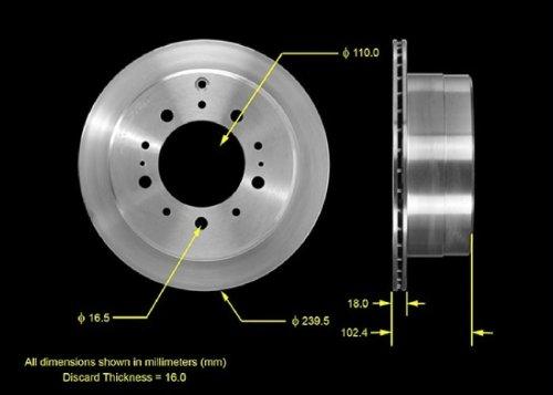 Bendix Premium Drum and Rotor PRT1054 Front Brake Rotor