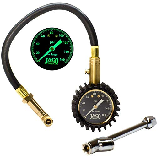JACO EliteProPlus Tire Pressure Gauge with Interchangeable Dually Air Chuck - 160 PSI